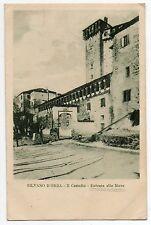 CARTOLINA DI SILVANO D'ORBA ALESSANDRIA CASTELLO ENTRATA MURA 1923 VIAGGIATA