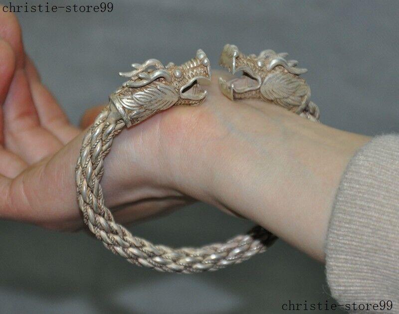 Jewelry & Accessories Bangle Bracelet 20mm Fashion Tibet Silver Dragon Always Buy Good