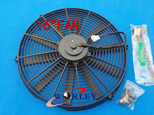 """16"""" 12V Slim Radiator Cooling Thermo Fan & Mounting kit universal electric fan"""