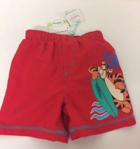 Disney-baby-boy-rouge-WINNIE-THE-POOH-Tigre-Board-Short-12-18-mois-Swim-Summer