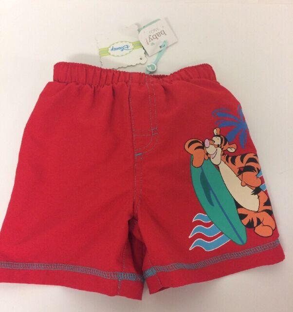 Disney baby boy rouge WINNIE THE POOH Tigre Board Short 12-18 mois Swim Summer