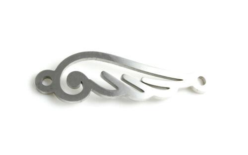 Edelstahl Verbinder Flügel 33 x 9 mm-Armband herstellen macrame