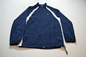 Vintage-Nike-Windbreaker-Jacket-Size-XL-Blue-Full-Zip-Embroidered-Swoosh-Mens