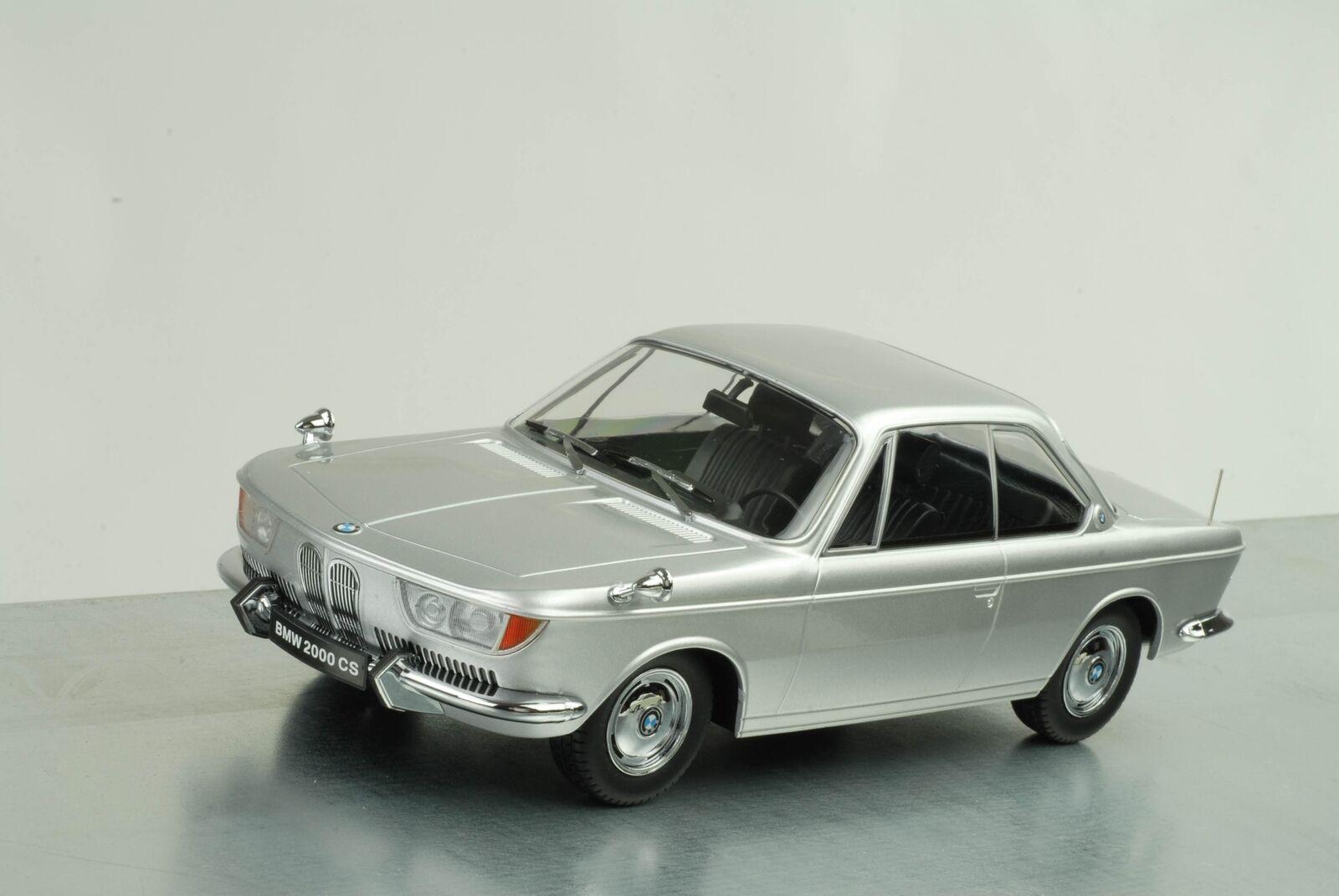 BMW 2000 CS Coupe 1965 bis 1970 Karmann silber 1 18 KK Scale Diecast