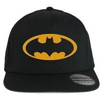 Hut Batman, SnapBack Cap schwarz mit logo gelb, Superhelden Kino e comics