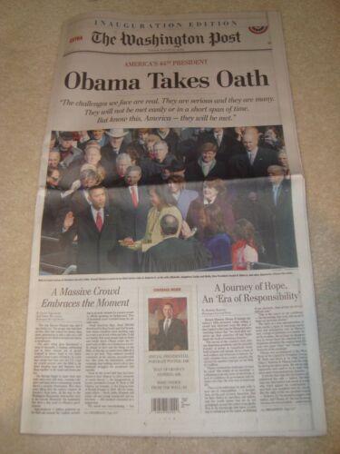 Washington Post Inauguration Edition Obama Takes Oath January 20 2009 Newspaper