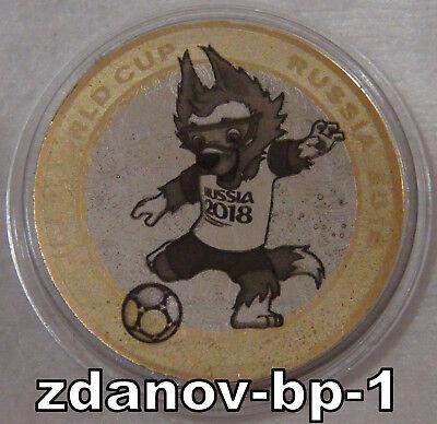№10 Russia 100 rubles 2018 Mascot Zabivaka FIFA world Cup Russia.