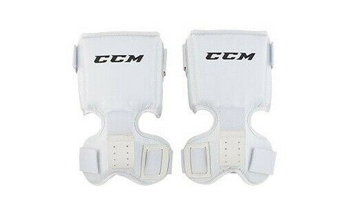 CCM Intermediate Thigh Goalie Protector - Ice Hockey White Guard for Leg  Pads