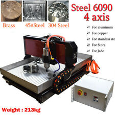Cnc 6090 4axis 22kw Engraving Machine Steel Metal Milling Router For Metal Us