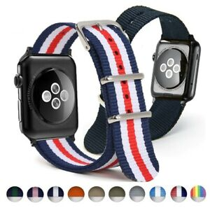 Nylon-Watchband-For-Apple-iWatch-Bracelet-Wrist-Band-Army-Military-38-40-42-44mm