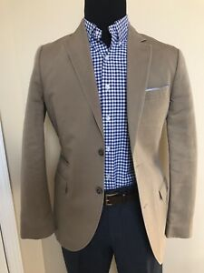 Khaki-Black-Brown-1826-Blazer-Size-Medium
