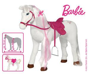 Barbie-Pferd-034-Majestiy-034-mit-Sound-belastbar-bis-100-Kg-Mattel