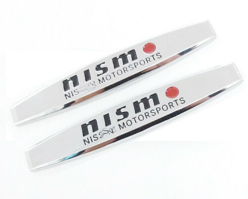 NISMO Fender Badge Decal Car Body Side Skirt Sticker Metal Chrome Emblem