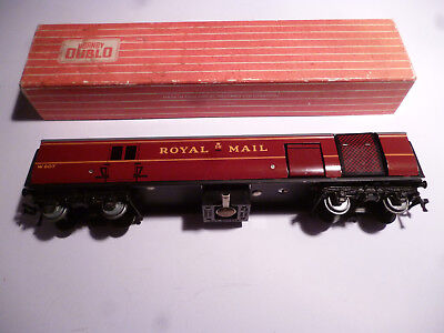 Creativo Hornby Dublo 4401 T.p.o. Mail Van Coach W807 Maroon Livery Gauge Oo With Box