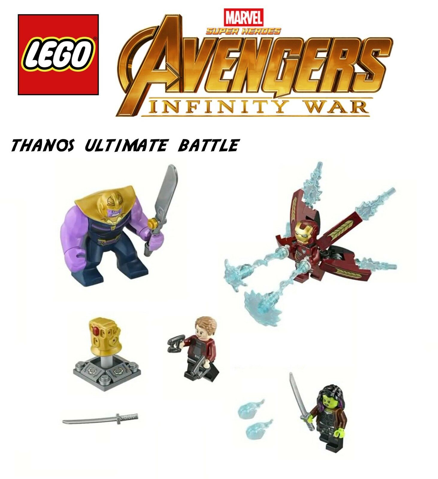 Lego Marvel Avengers Infinity War  Thanos Thanos Thanos ultimate battle mini figs   iron man b48d3a
