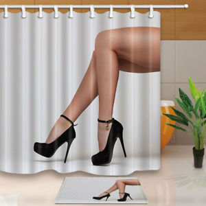 Image Is Loading High Heels And Legs Shower Curtain Bathroom Decor