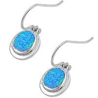 Blue Australian Opal .925 Sterling Silver Earrings 1 on sale