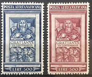 Vaticano-1951-posta-aerea-Monaco-Graziano-serie-completa-mlh