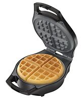 NEW Hamilton Beach 26042 Mess Free Belgian Style Waffle Maker Black