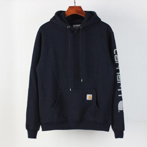 Carhartt Sleeve Logo Gedruckter Fleece Kapuzenpullover Street Casual Sweater