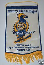 WOW Vintage Philippine Eagle Digos Phillippines International Rotary Club Banner