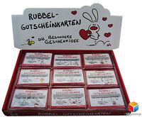 Nic Gutschein Auswahl Rubbel Karte Geschenke Zum ♥ Valentinstag ♥ Nikolaus