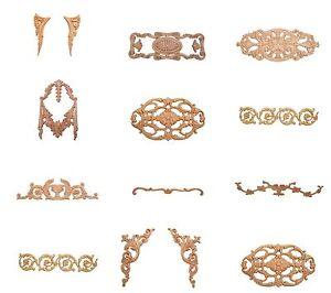 holz ornament verzierungen holzornamente antik m bel ersatzteile holzzierteile ebay. Black Bedroom Furniture Sets. Home Design Ideas