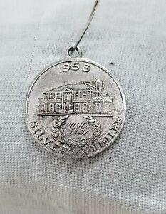 Sterling-Silver-Jubilee-Coin-Vintage-Estate-1956-925-Stamped-Charm