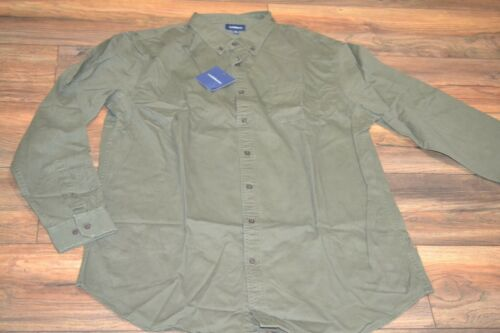 Croft /& Barrow Button Down Long Sleeve Olive Denim Casual Shirt Big /& Tall Sizes