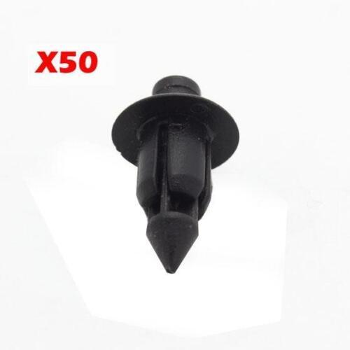 50 Fender Liner Fastener Rivet Push Type Clips Retainer Fastenr For Suzuki GSX-R