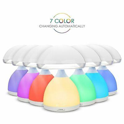 LAMPADA FUNGO LED RGB LUCE BIANCA TOUCH TAVOLO DIMMERABILE NOTTE LETTURA COMODIN | eBay