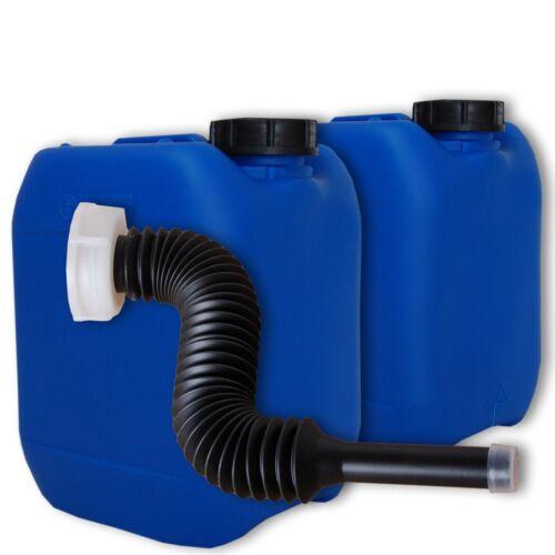 2 pièces Bidons boissons 5 L Bleu DIN 51 plastique-Couvercle Bec Verseur Flex Lang