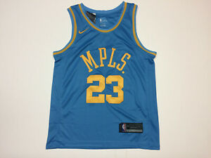 2b90cf7e1373 Lebron James  23 Los Angeles Lakers MPLS Light Blue Men s Jersey ...