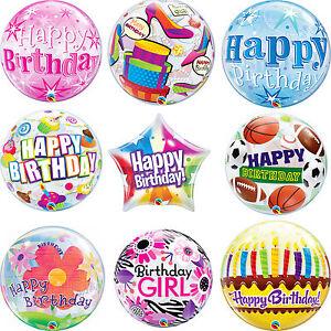 "Qualatex Bubble Birthday Balloon Party Sorbet Starburst 22/"" Decoration Supplies"