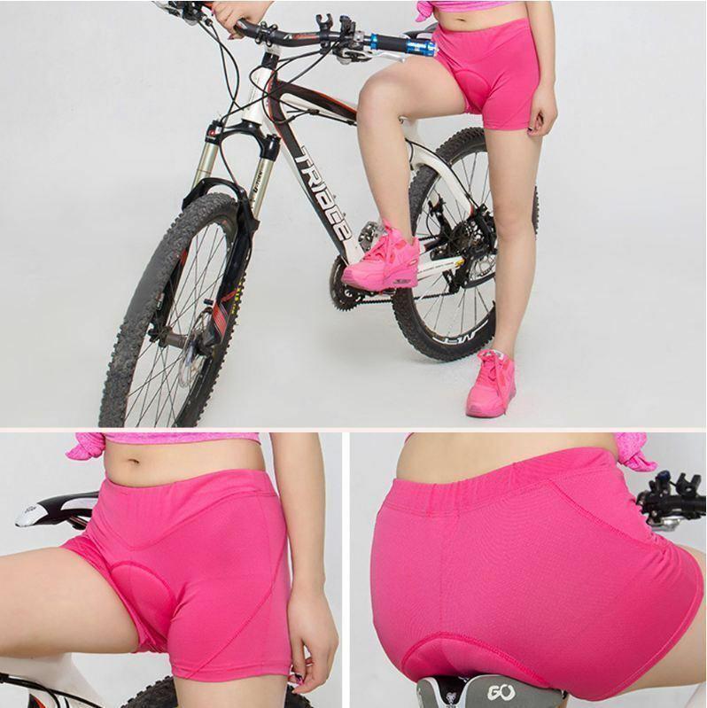 Women Gel Padded Cycling Underwear Bicycle Underpants Lightw