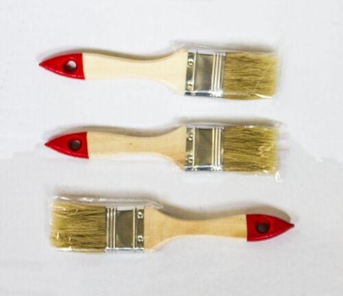 48 x Profi Flachpinsel 25 mm Chinaborste hell Lackpinsel Lasurpinsel Pinsel rot
