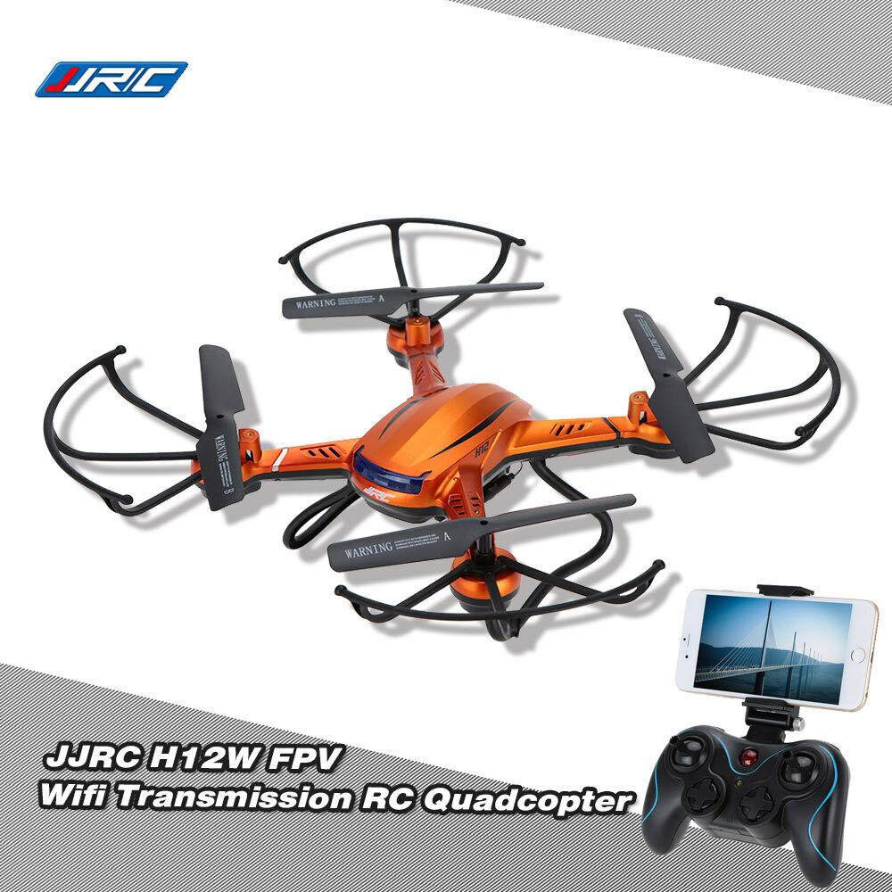 100% JJRC  h12w 2.4g 4 ch 6-ACH Gyro WIFI FPV RC Drone w 2.0mp HD TELEtelecamera j3g4  popolare