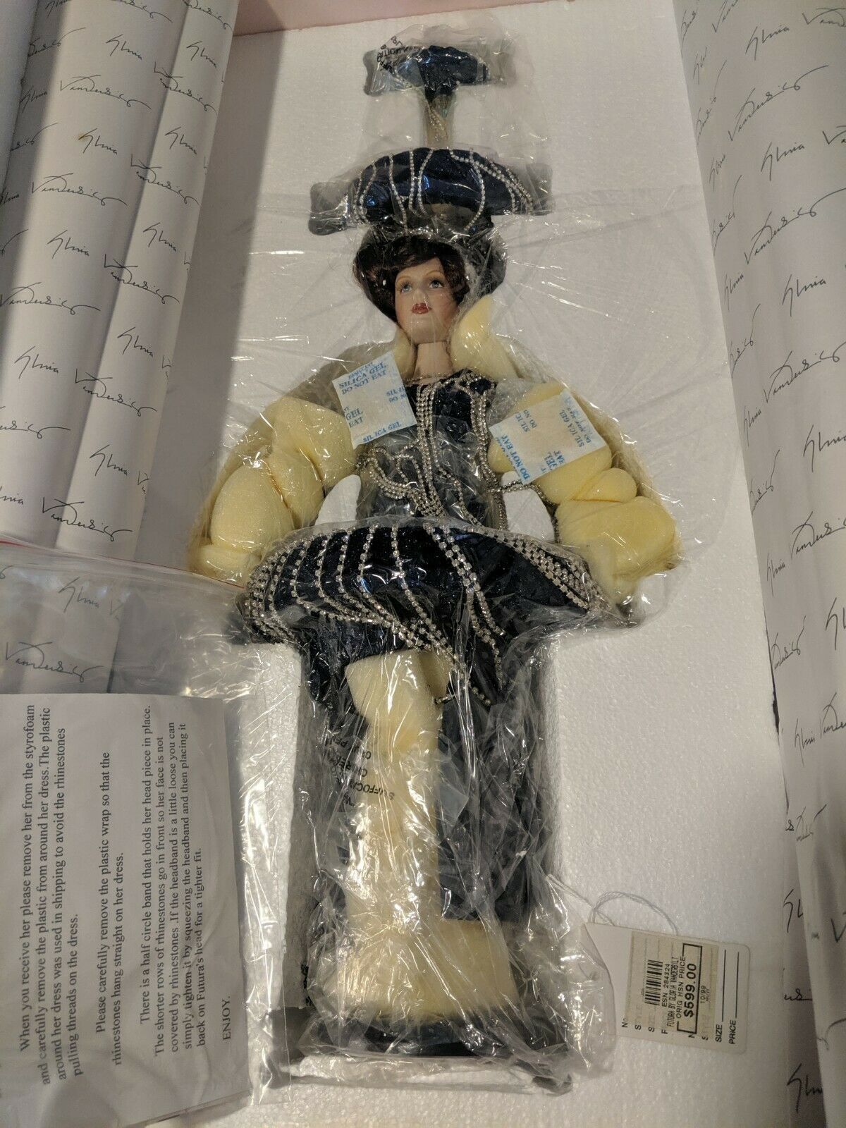Unopened Gloria Vanderbilt  Futura  Doll Limited Edition  52 of 200