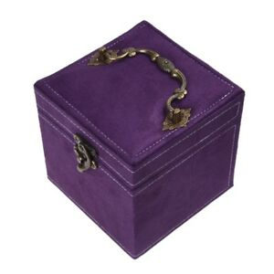 N4S9 1 Jewel case box blue gift rings earrings jewelry velvet displa