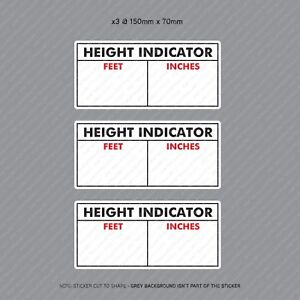 3-x-Commercial-Hgv-LGV-Vehicle-Cab-Height-Indicator-Warning-Stickers-SKU3114