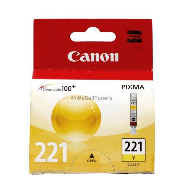 Canon CLI-221 Yellow Ink Cartridge CLI-221Y 2949B001 Genuine New Sealed Box