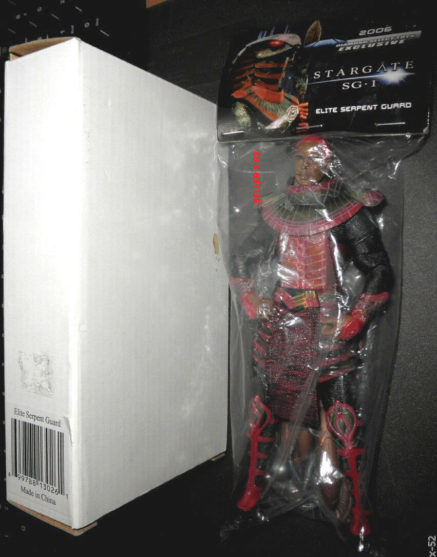 STARGATE SG-1 TV Series EXCLUSIVE mail away FIGURE rosso ELITE SERPENT GUARD toy