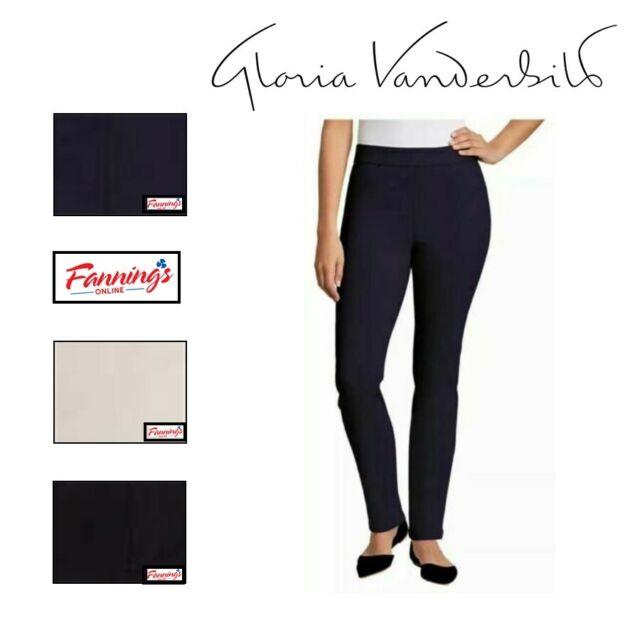 Gloria Vanderbilt Women S Avery Pull On Straight Leg Comfort Flex Pants For Sale Online Ebay