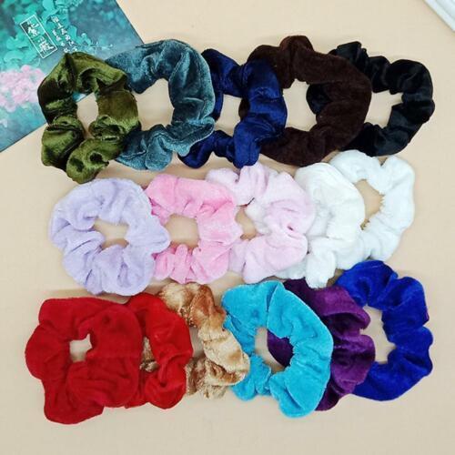 20Pcs Girl Hair Scrunchies Velvet Elastic Hair Bands Scrunchy Hair Ties Ropes