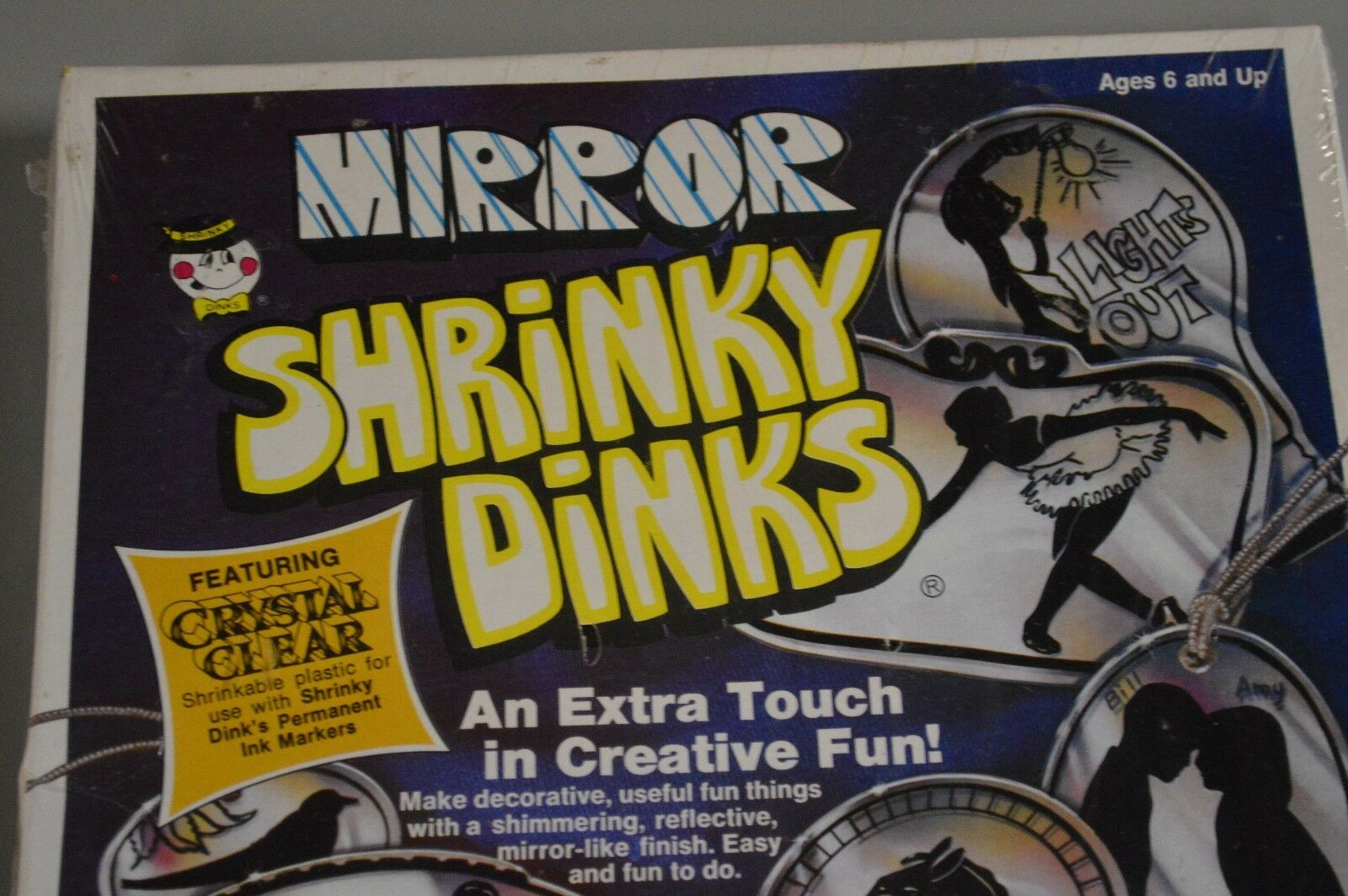 Vintage 1976 Mirror Shrinky Dinks RARE Crystal Clear Make Your OWN Design NEW