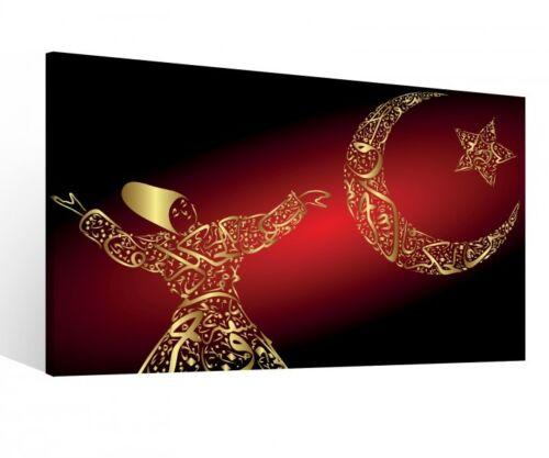 Canvas 1Tlg Dervish Turkey Motif Moon Star Adha Canvas Picture Pictures 9R1031