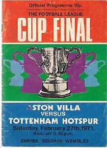 LEAGUE CUP FINAL ASTON VILLA v TOTTENHAM SPURS 197071 - Sheerness, United Kingdom - LEAGUE CUP FINAL ASTON VILLA v TOTTENHAM SPURS 197071 - Sheerness, United Kingdom