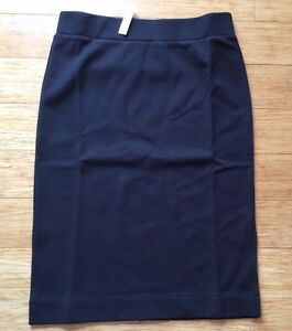 c0c4da6c6 NWT Madewell column side-slit pencil skirt black stretchy Size S | eBay