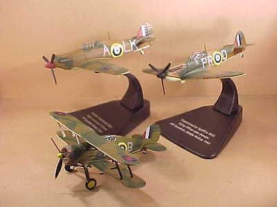 Oxford 1/72 Battle of Britain Set, Gladiator, Hurricane, Spitfire READ #72SET01A