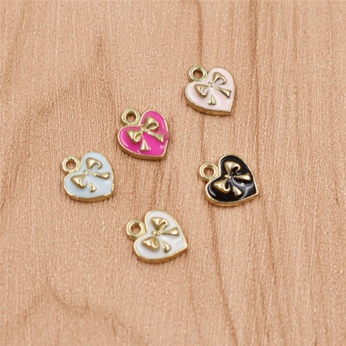 Sweet Girls Heart Shape Charms Alloy Pendant Lovely Jewelry Making Necklace Gift